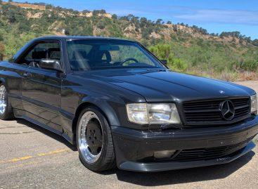 Уникальный Mercedes-Benz 560SEC AMG Widebody выставлен на продажу в сети