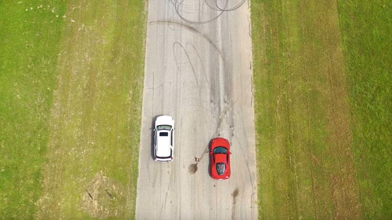 Hennessey Cadillac Escalade vs ferrari 488