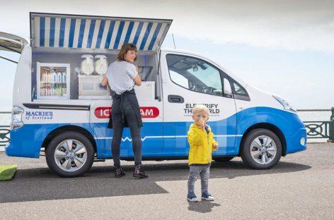 Nissan разработал концептуальный фургон для мороженого с нулевыми выбросами
