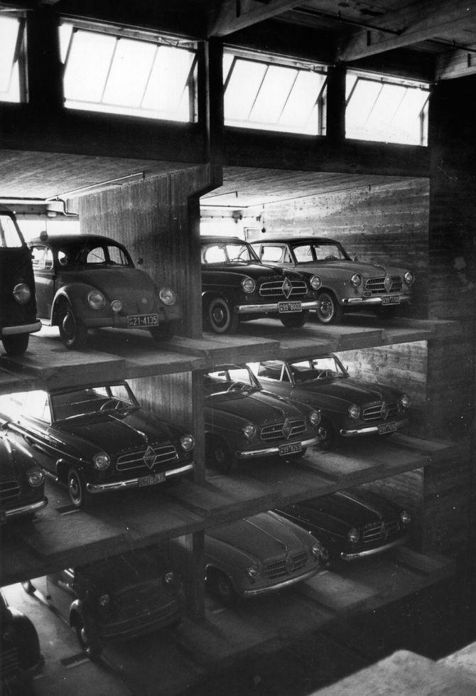 парковка в Германии прошлый век