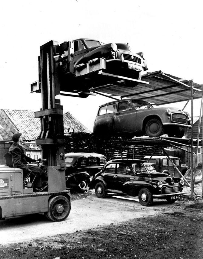 парковка в прошлом веке