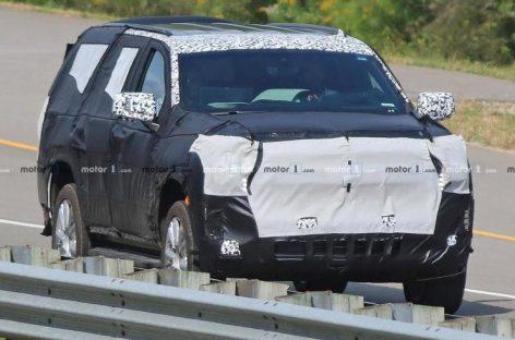 Обновленную версию внедорожника Chevy Tahoe заметили на тестах