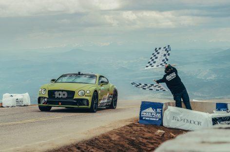 Bentley Continental GT установил новый рекорд для серийных автомобилей на трассе Пайкс-Пик