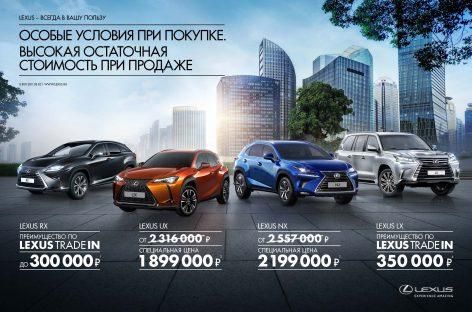 Кроссоверы Lexus только в июле по специальным ценам