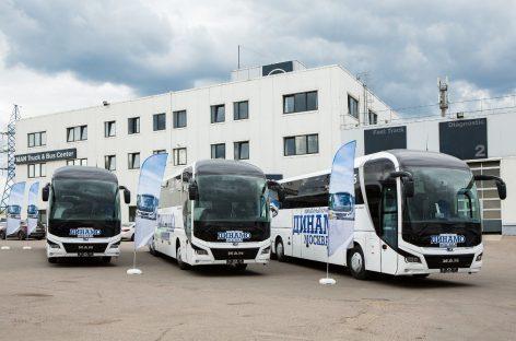 ХК «Динамо» Москва торжественно передали три новых автобуса MAN Lion`s Coach