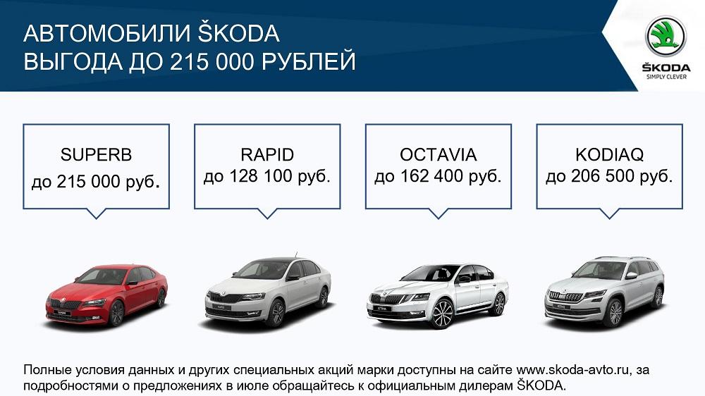 Привлекательные предложения для клиентов SKODA в июле (1)