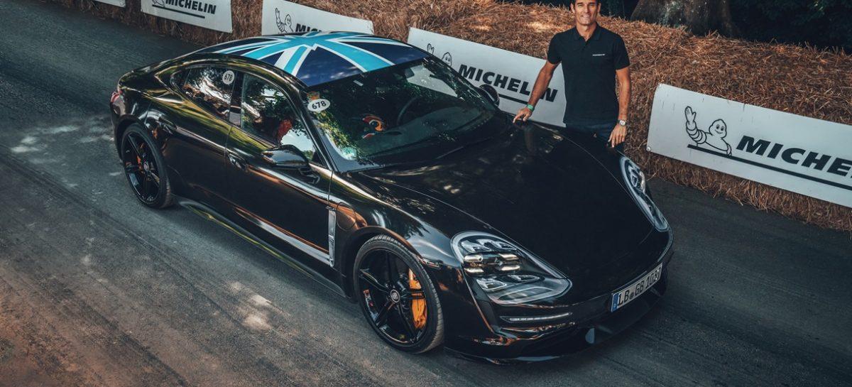 Спорткар Porsche Taycan дебютировал на Фестивале скорости в Гудвуде