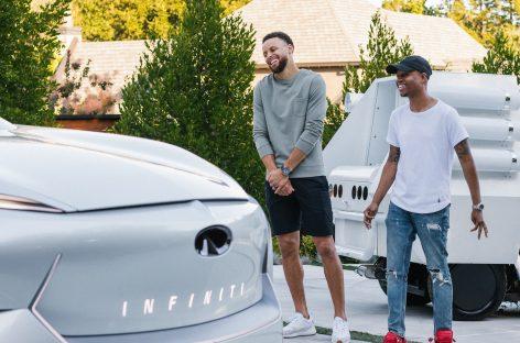 Infiniti и звезда НБА Стивен Карри вместе снимают серию роликов для YouTube