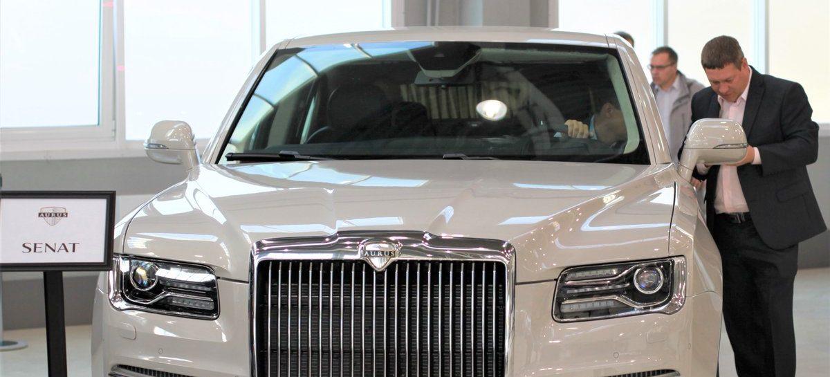 Лимузин Aurus попал в ДТП во время тестовых испытаний в Астрахани