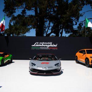Празднования Lamborghini на фестивале Monterey Car Week 2019