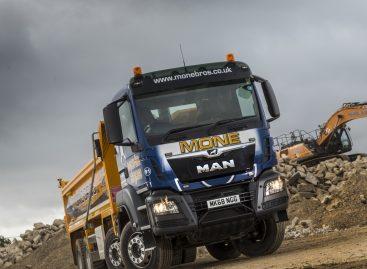 Четыре самосвала MAN TGS для британской строительной компании