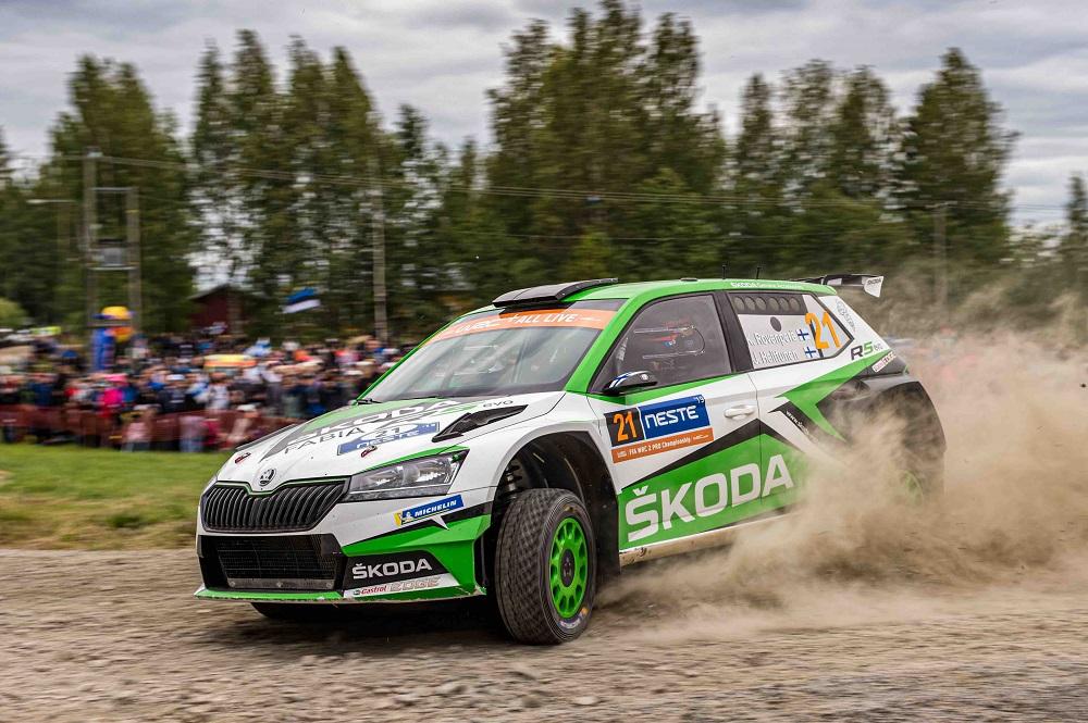 Ралли Финляндии - Калле Рованпера за рулем SKODA FABIA R5 evo одержал победу в домашней гонке в зачете WRC 2 Pro (2)