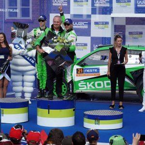 Калле Рованпера за рулем Škoda Fabia R5 evo одержал победу в зачете WRC 2 Pro