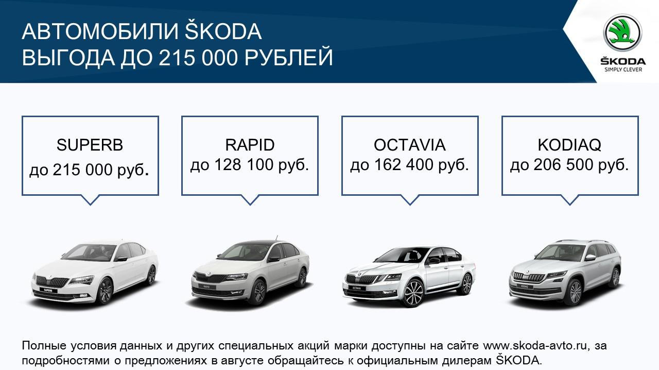 Специальные предложения для клиентов SKODA в августе (1)