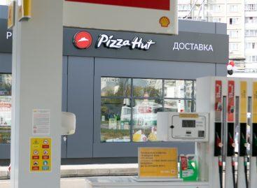 Первый ресторан Pizza Hut в сети АЗС Shell