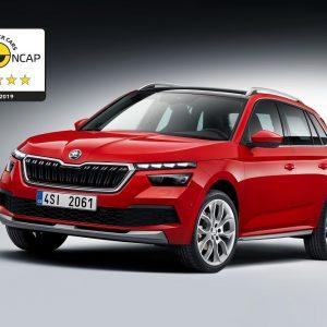 SKODA KAMIQ получил максимальную оценку в краш-тестах Euro NCAP