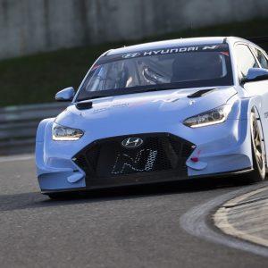 Hyundai завершила первую серию испытаний нового гоночного электромобиля Veloster N ETCR