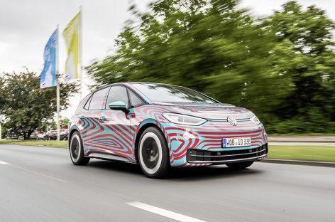 Полностью электрический автомобиль ID.3 от Volkswagen