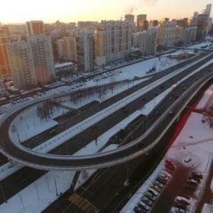 Временная эстакада на Рублевском шоссе, оказалась по документам новой за миллиард рублей