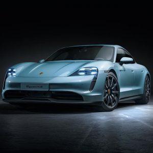 Еще один новый электрический спорткар Porsche Taycan 4S