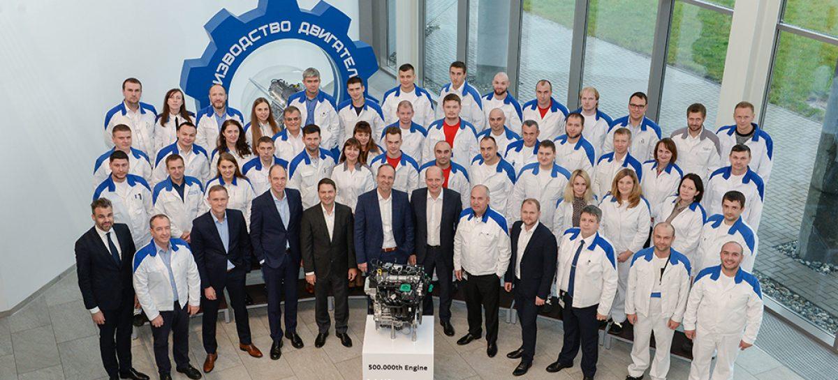 Volkswagen Group Rus отмечает производство 500000-ного двигателя на заводе в Калуге