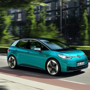 Внутренняя интеллектуальная подсветка электромобиля Volkswagen ID.3