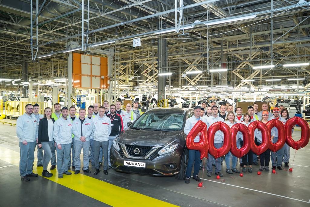 С конвейера завода Nissan в Санкт-Петербурге сошел 400-тысячный автомобиль