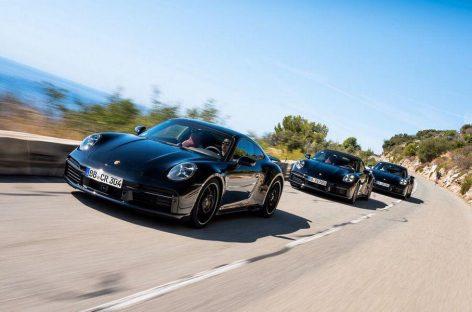 Первые фотографии Porsche 911 Turbo в кузове 992
