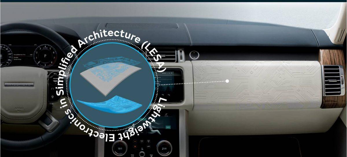 Jaguar Land Rover стала первой в мире компанией, разрабатывающей технологию легкой электроники в упрощенной архитектуре для салона автомобиля