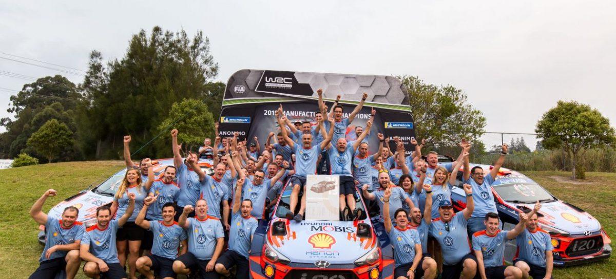 Hyundai Motorsport впервые выиграла Чемпионат мира FIA по ралли