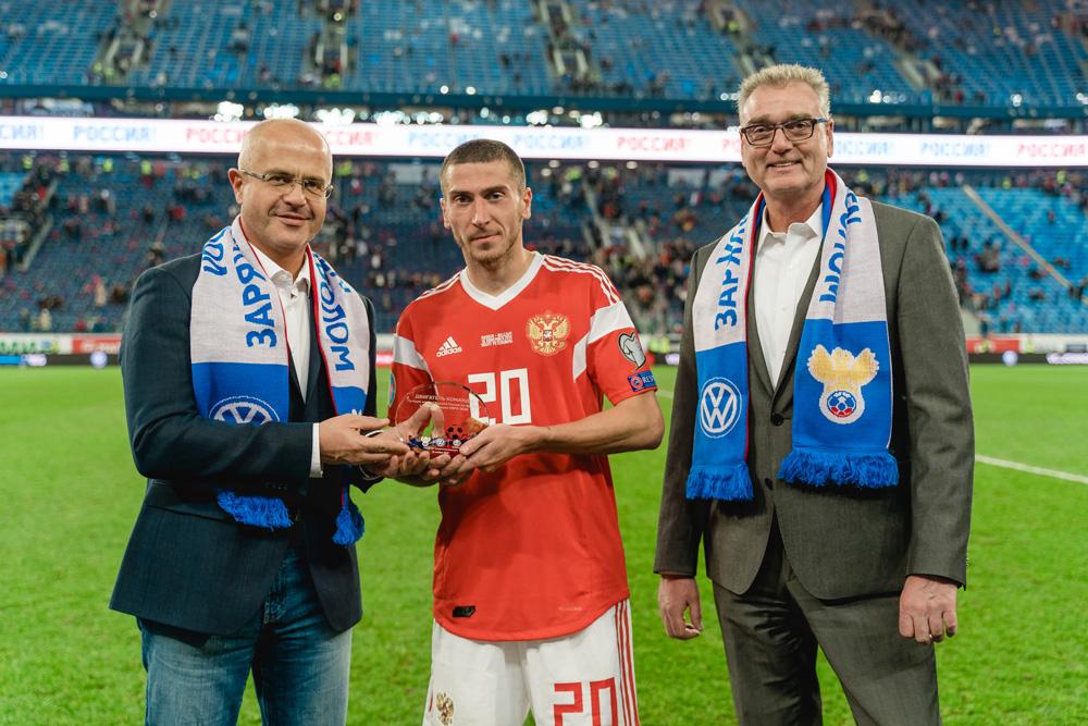 Volkswagen награждает футболистов