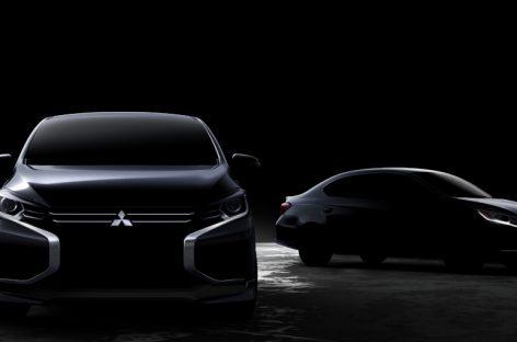 Mitsubishi Motors представила первое изображение обновленных Mirage и Attrage