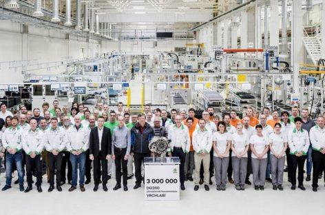 На заводе Škoda Auto во Врхлаби выпущена трехмиллионная по счету автоматическая коробка передач DQ200