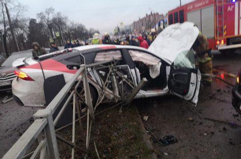 «Тест-драйв от Audi A7». Массовое ДТП на Выборгском шоссе