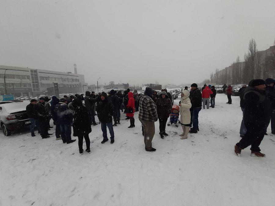 Забастовка таксистов в Воронеже