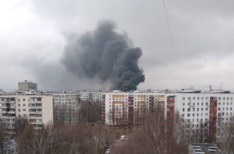 Крупный пожар на Варшавском шоссе в столице потушен