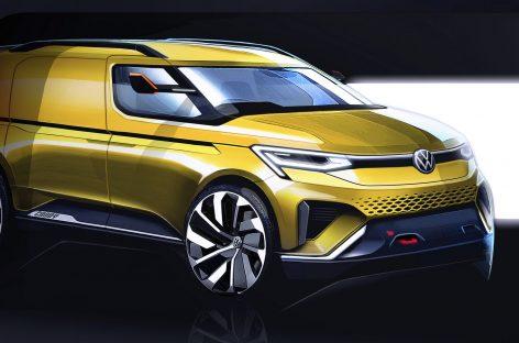 Первые эскизы нового Volkswagen Caddy