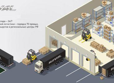 Haval расширяет центральный склад запчастей и аксессуаров