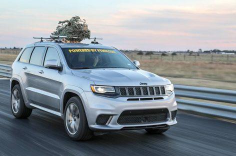 Jeep Cherokee установил новогодний рекорд скорости