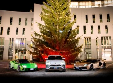 Lamborghini Christmas Drive: рождественское путешествие с Aventador SVJ, Huracán EVO и Urus
