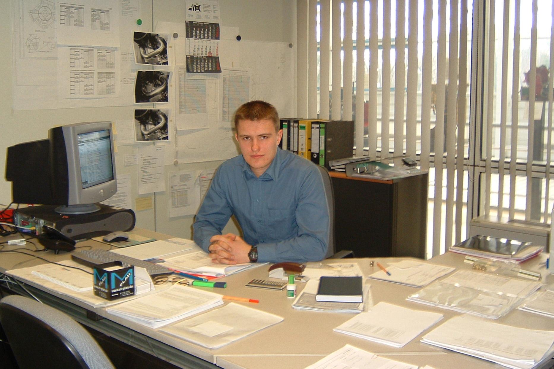 Mike Motorov: Практика на заводе Deutz 2002 год Кёльн