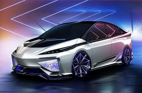 Toyota показала Prius с обвесом, который светится изнутри