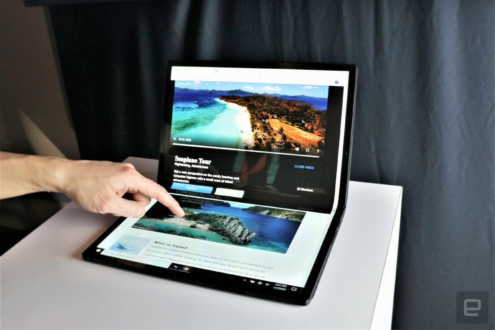 Компьютеры с гибким экраном от Lenovo, Intel и Dell