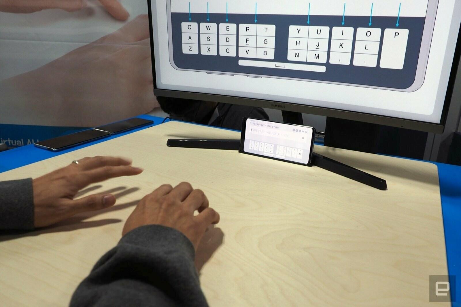 Samsung показала «невидимую» проекционную клавиатуру,