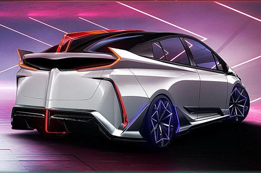 Toyota показала Prius с диким обвесом, который светится изнутри