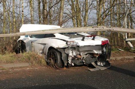 """Вратарь """"Манчестер Юнайтед"""" разбил Lamborghini за 220.000 долларов"""