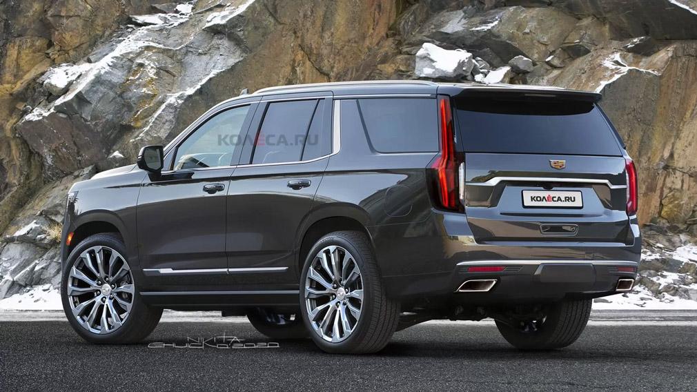 Рендерное изображение нового поколения Cadillac Escalade