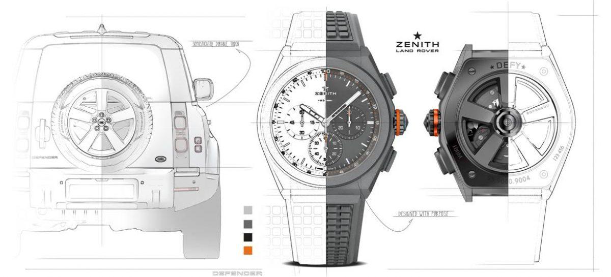 Land Rover и Zenith создали специальную серию часов Defy 21 Edition, посвященную новому Defender