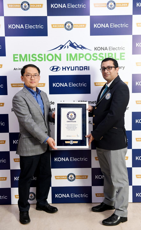 Hyundai KONA Electric установила новый рекорд Гиннесса