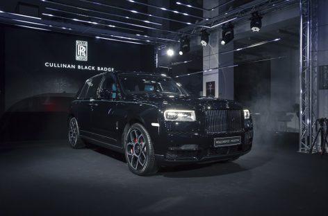 Российская премьера Rolls-Royce Cullinan Black Badge